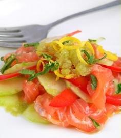Carpaccio di salmone sedano e limone