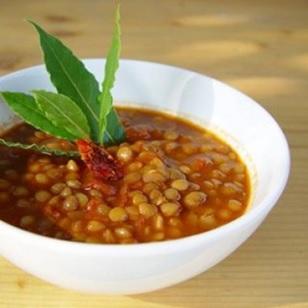 Lenticchie rosse al curry