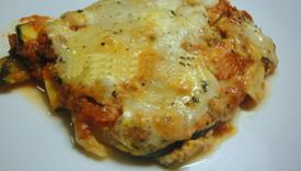 Parmigiana di zucchine con mozzarella
