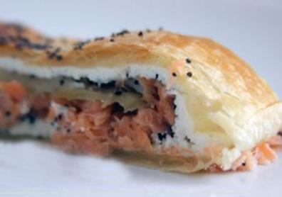 Strudel di salmone e mele