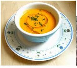 Vellutata di carote e patate al curry